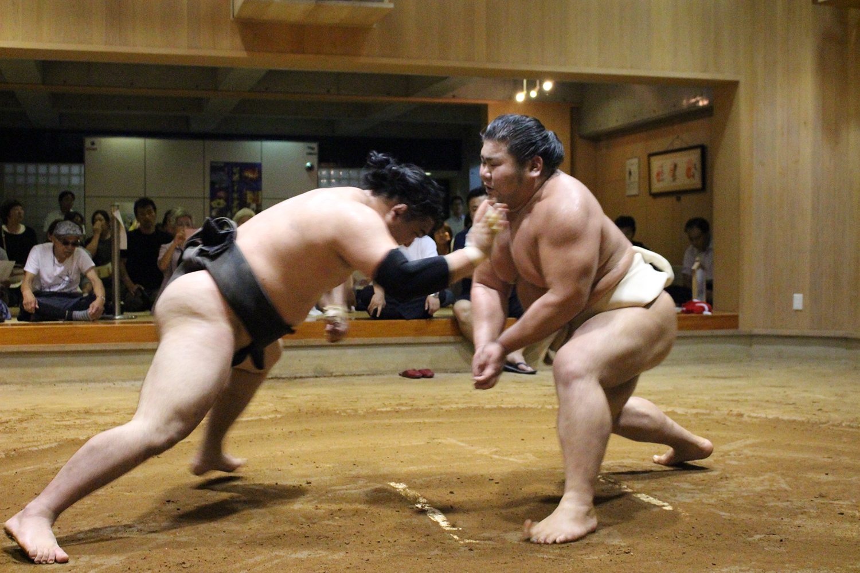 大相撲 九重部屋合宿 朝稽古見学 | 福島町観光 BE HAPPY FUKUSHIMA